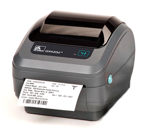 Wired Printers   Zebra Gx420d Direct Thermal Wired Printer A Bar Code Business